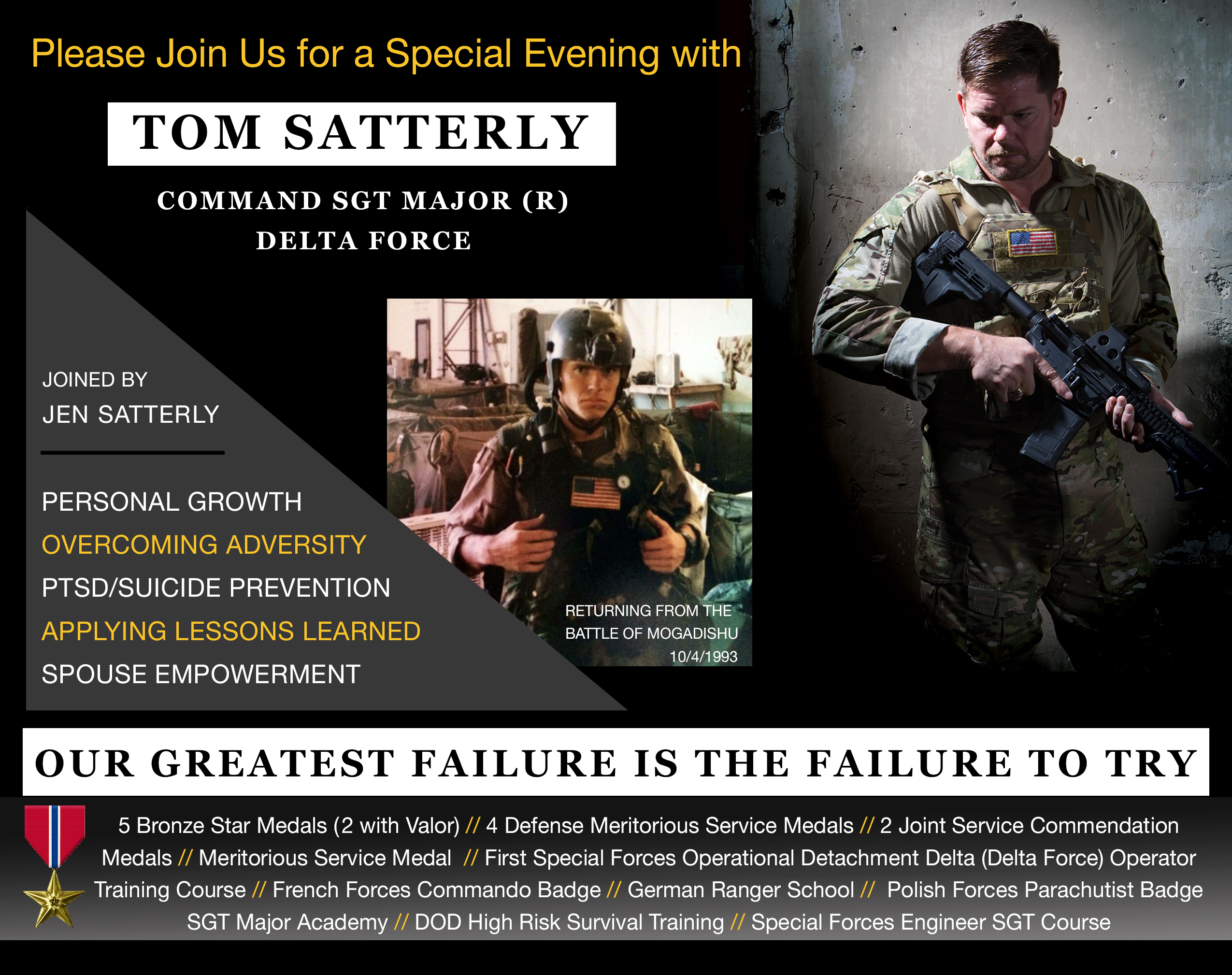 Tom Satterly – Command Sgt  Major Whose Life Was Portrayed
